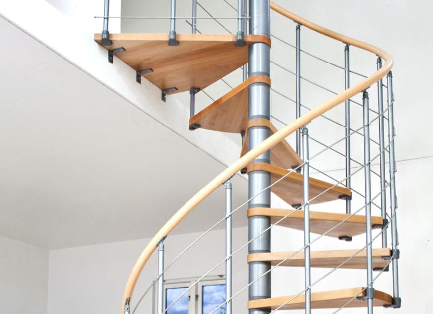 Модульная винтовая лестница для частного дома