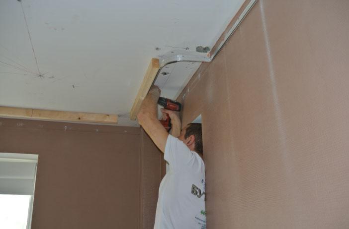 Как сделать нишу для штор в натяжном потолке своими руками 23