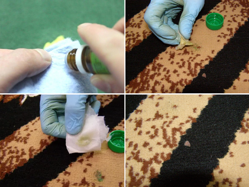Как удалить пятна от пластилина на ковре
