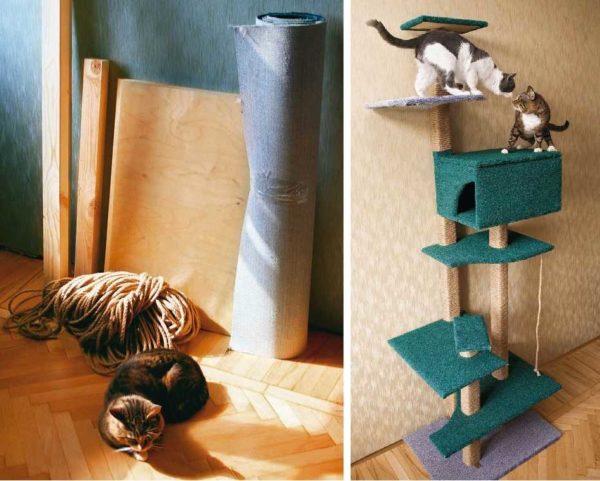 Простой кошкин дом своими руками 6