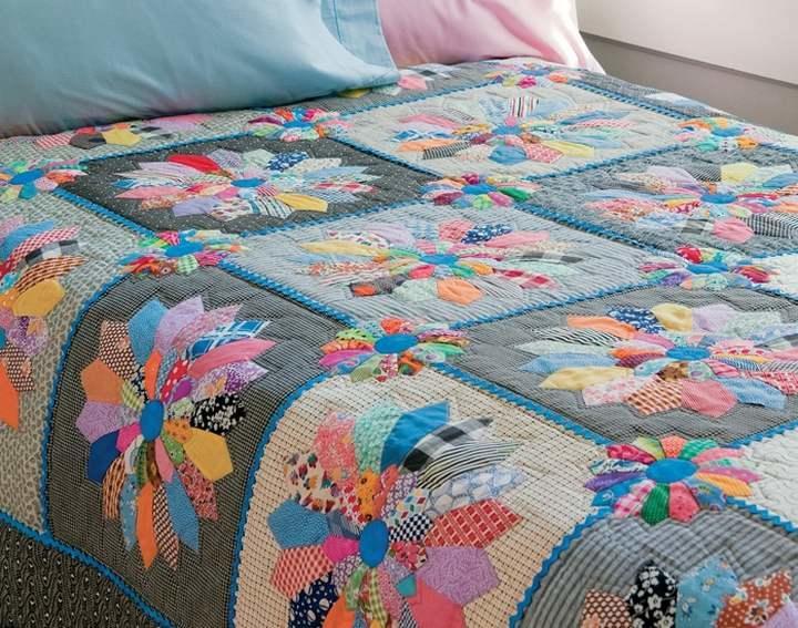 Лоскутное одеяло своими руками схемы фото 205