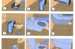 Несколько способов, которыми можно  крепить унитаз к полу в фото