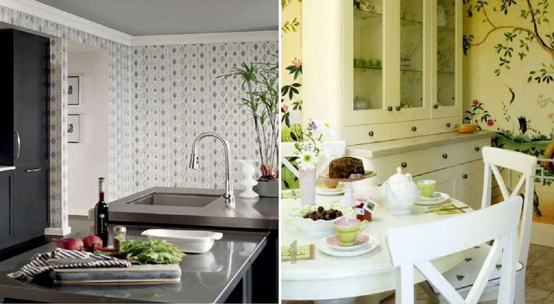 обои на кухню фото для квартиры хрущевки