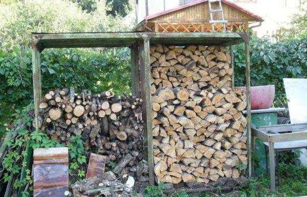 Как построить дровяник на даче своими руками 60
