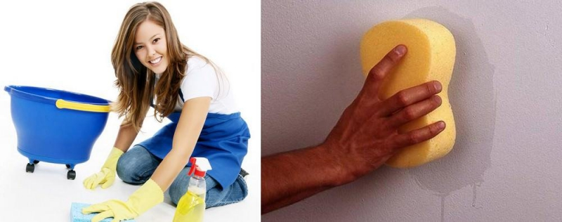 Как очистить жирное пятно со стены фото