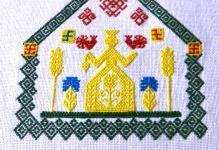 Схема вышивки макошь оберега 94