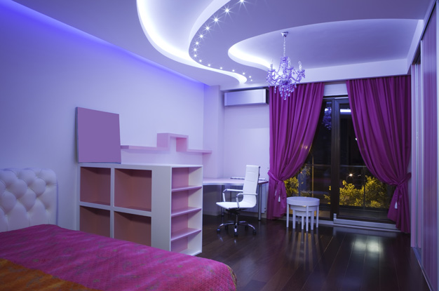 Потолки из гипсокартона для спальни (80) 44