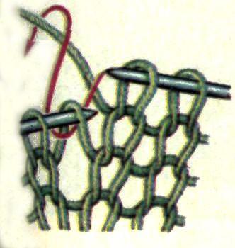Как набрать при вязании дополнительные петли 28