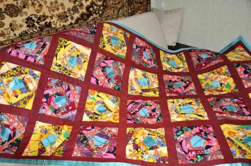 Как сшить одеяло из квадратиков своими руками 71