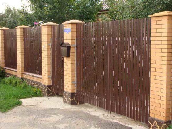 Забор из евроштакетника своими руками фото 549