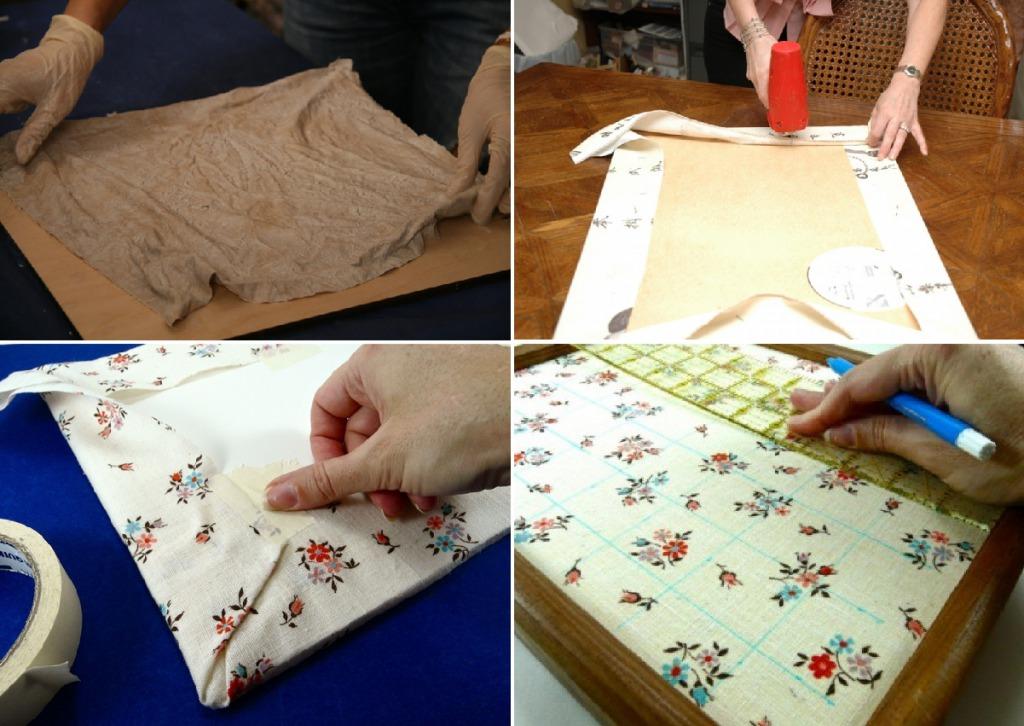 Как сделать основу для панно из ткани