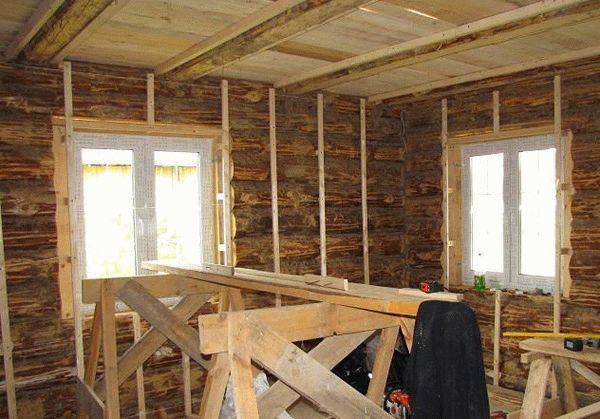 Как сделать стену гипсокартоном в деревянном доме