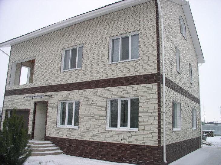 Отделка фасадов декором из пенопласта