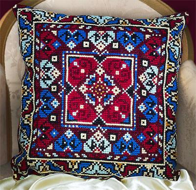 Вышивка крестом схема подушки риолис
