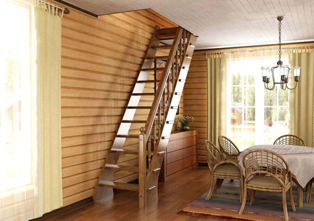 Лестница на второй этаж эконом класса
