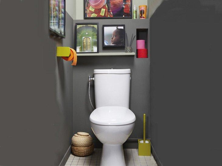 Интерьер в туалете своими руками 29