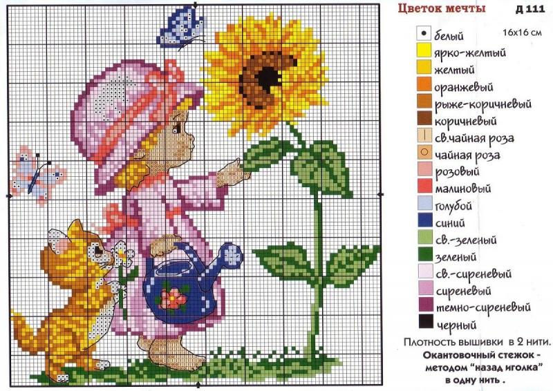 Схема вышивки бесплатно малыш фото 794