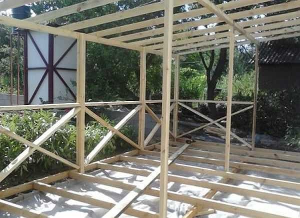 Открытые веранды пристроенные к дому своими руками фото