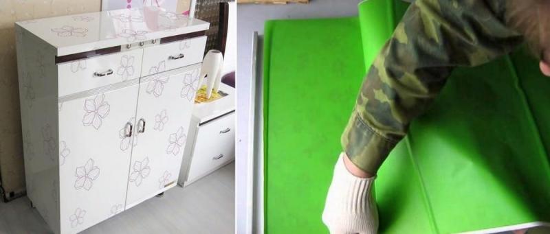 Как сделать пленку на мебели 745