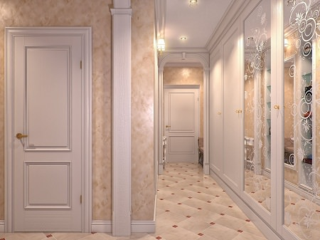 First fix the wallpaper or place the door