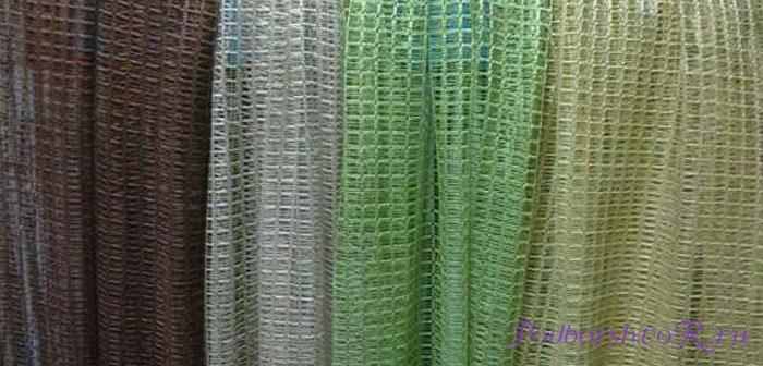 фото шторы на кухню сетка