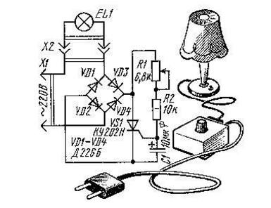 Как продлить срок службы лампы накаливания схема фото 928