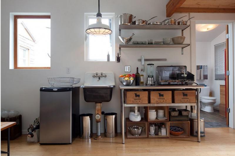 Кухня в винтажном стиле в фото