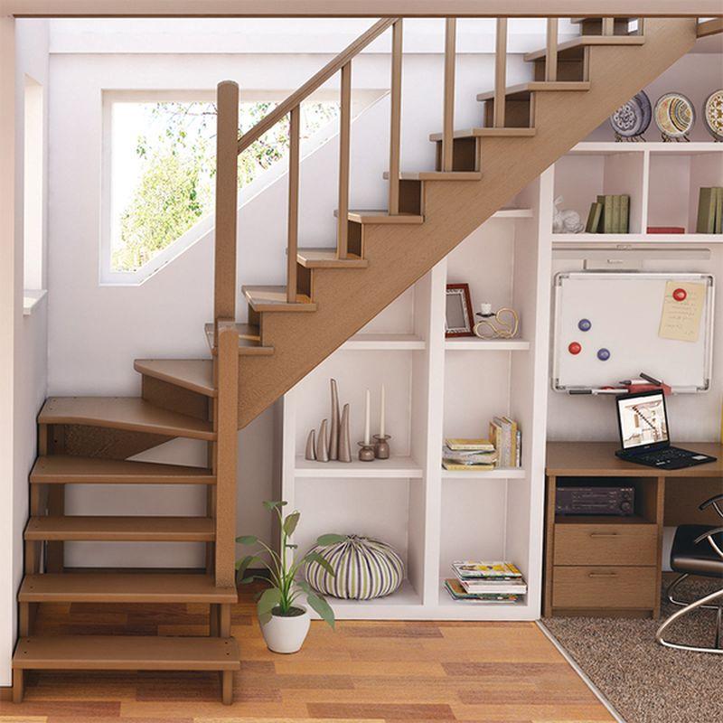 Угловая лестница на второй этаж