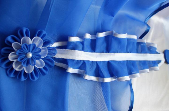 Как сделать цветок на шторы из ткани своими руками 8