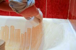 Реставрация ванны своими руками с помощью акрила в фото
