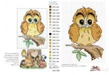 бесплатная схема вышивки совы