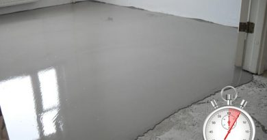 Сколько времени сохнет наливной пол: особенности составов