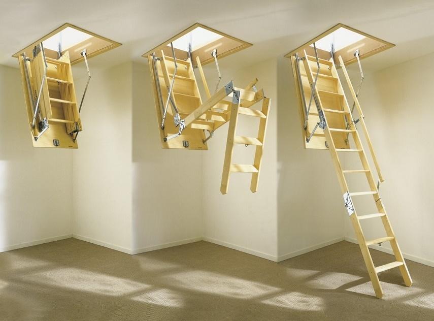 Чердачная лестница на второй этаж