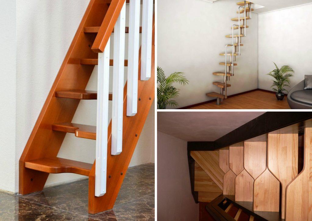 Лестница на второй этаж гусиный шаг