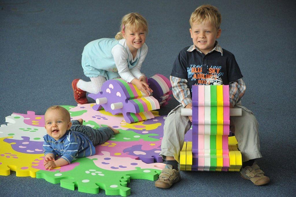 Мягкий коврик мозаика для детей
