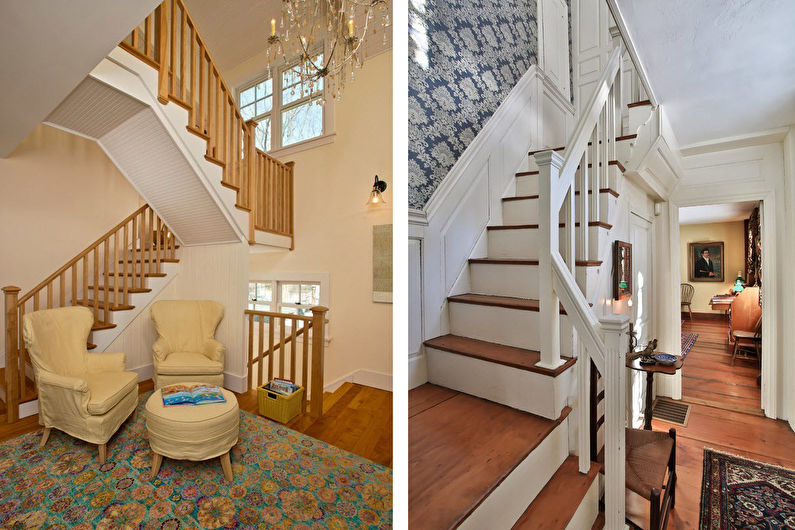 Классические лестницы на второй этаж