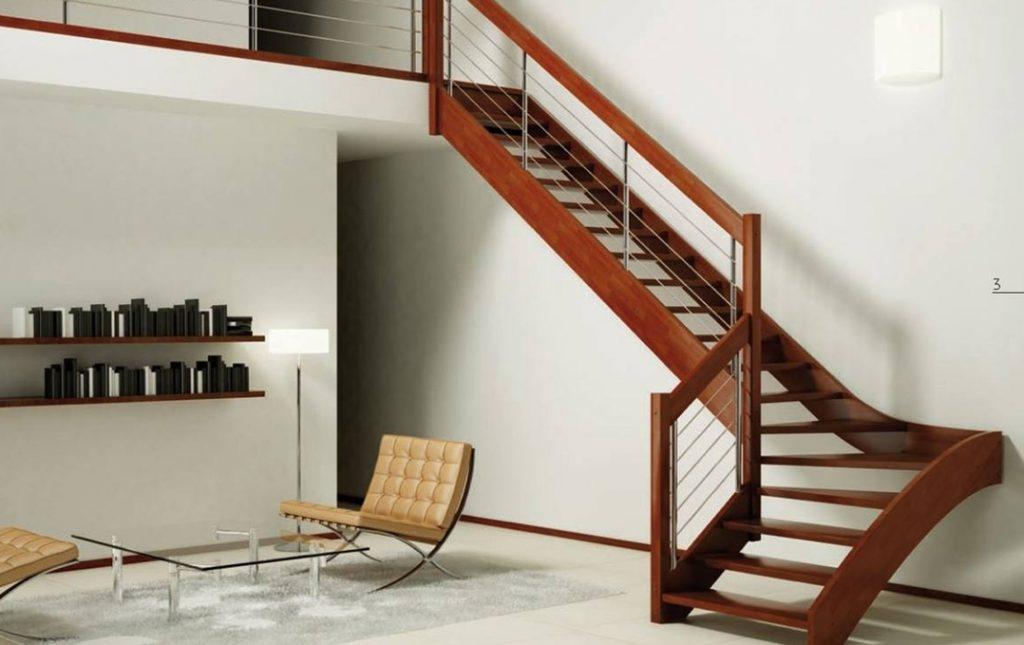 Стильная лестница на тетивах
