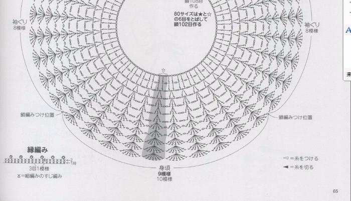 Схема кокетки крючком для детского платья видео фото 123
