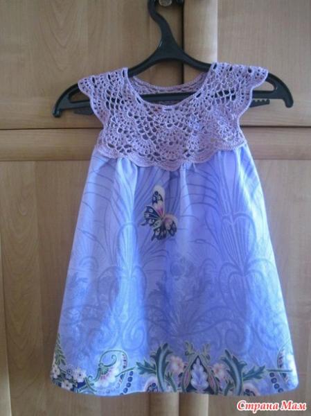 Схема кокетки крючком для детского платья видео фото 748