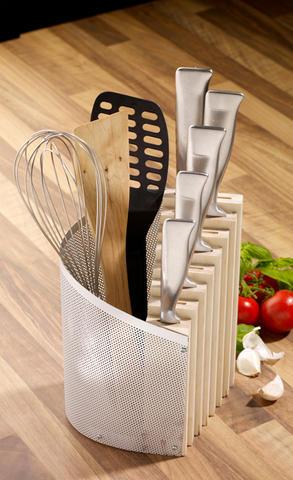 Самоделки для домашней кухни. 2 в 1. Подставка для ножей и столовых приборов. Классная подставка под горячее в фото