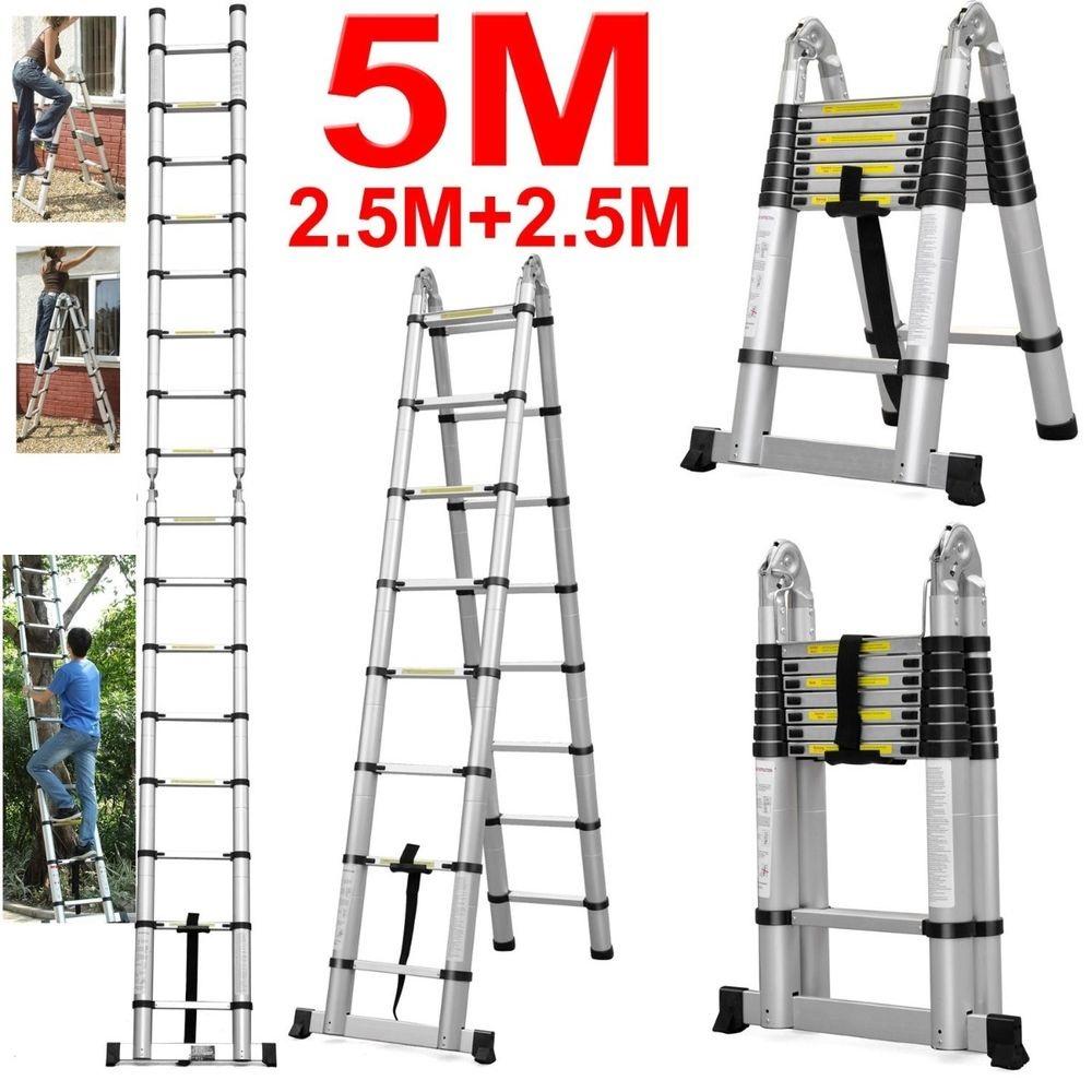 Телескопическая лестница 5 метров
