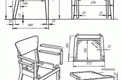 Стулья из фанеры: технологии изготовления в фото