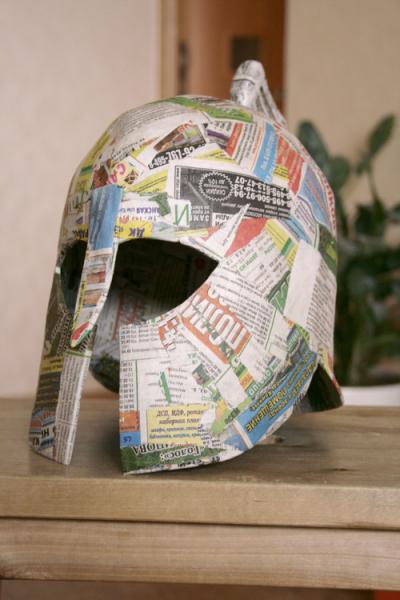 Шлем греческого Гоплита своими руками в фото