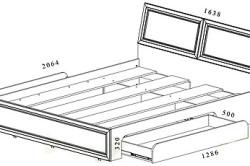 Кровать с выдвижными ящиками своими руками: чертежи и работы в фото