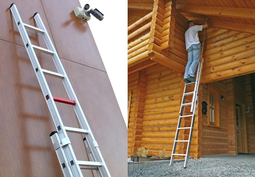 Двухсекционная алюминиевая приставная лестница