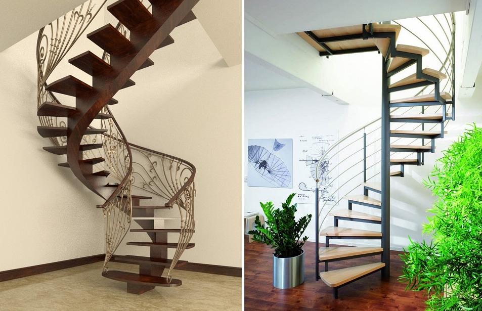 Винтовые лестницы на косоурах