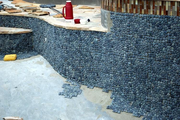 Плитка из морских камней своими руками 70