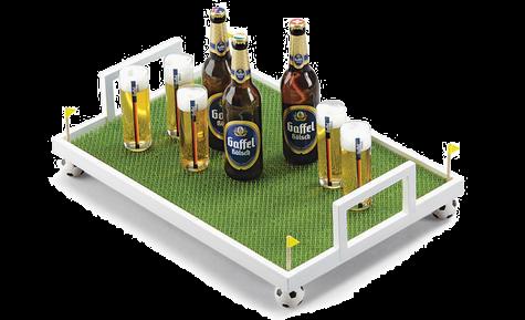 Футбольные самоделки 2 в 1 (ворота и поднос для напитков) в фото