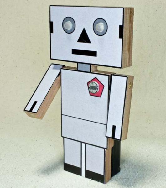Робот из бумаги своими руками фото 585