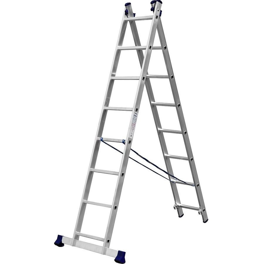 Двухсекционная лестница стремянка трансформер